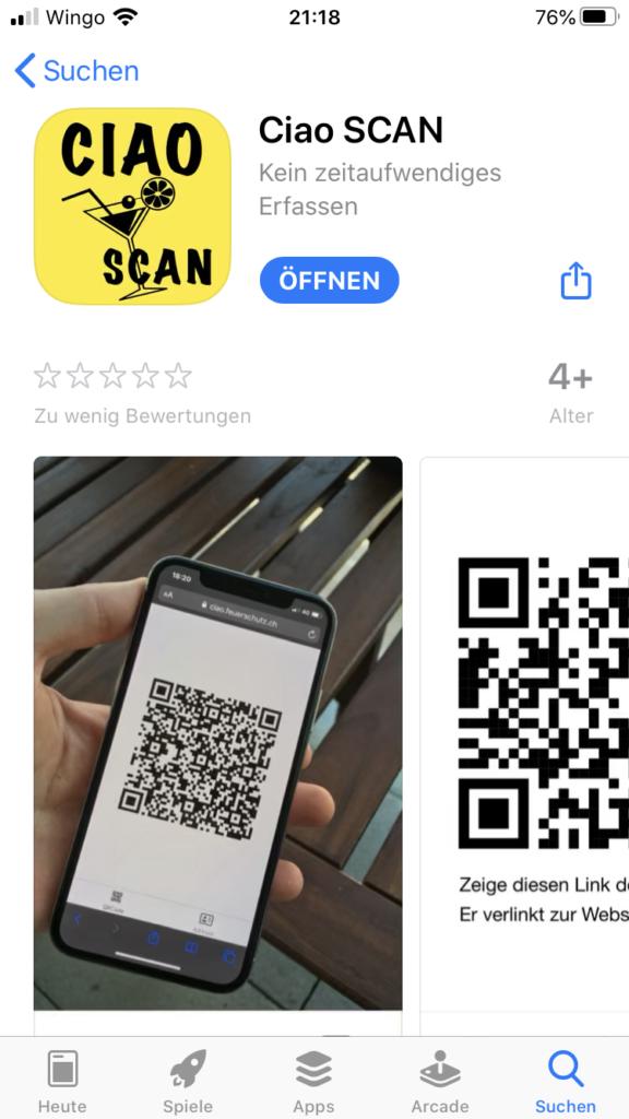 App Ciao SCAN Screenshot